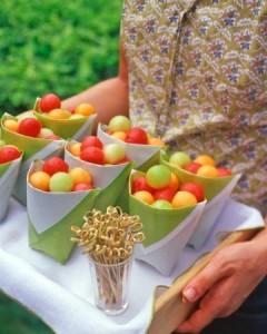 Meloenballetjes - verjaardag hapjes